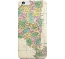 Vintage Map of New York (1827) iPhone Case/Skin