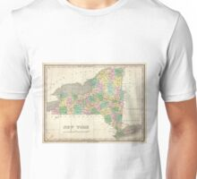Vintage Map of New York (1827) Unisex T-Shirt