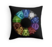 Grunge Guild Wheel Throw Pillow