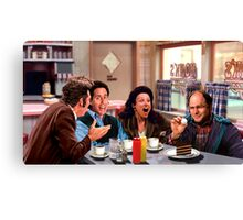 Seinfeld Crew in Monk's Diner Canvas Print
