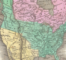 Vintage Map of North America (1827) Sticker