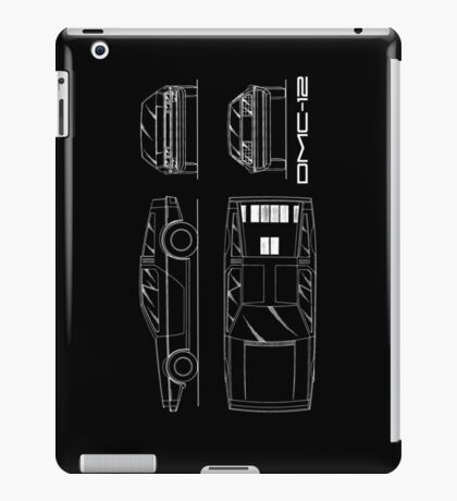 The DMC-12 Blueprint iPad Case/Skin