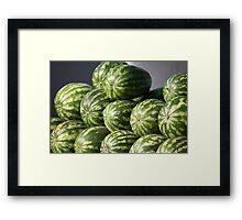 Striped watermelons Framed Print