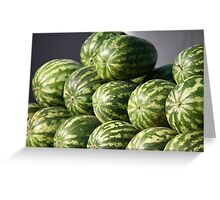 Striped watermelons Greeting Card