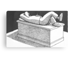 Tomb for someone really lazy Canvas Print