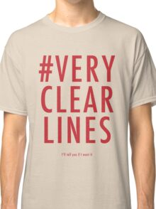 ALT #Very Clear Lines Classic T-Shirt