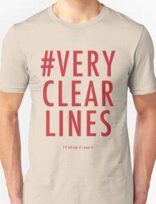 ALT #Very Clear Lines Unisex T-Shirt