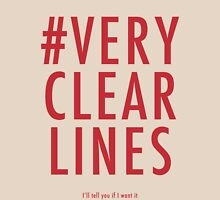 ALT #Very Clear Lines Womens Fitted T-Shirt