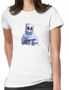 Marshmello design Womens Fitted T-Shirt