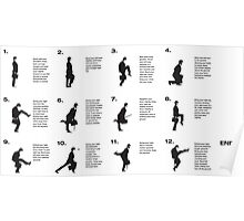 Monty Python | Silly walks | Cult tv Poster