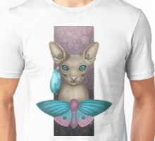 Sphynx cat and Moth Unisex T-Shirt