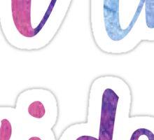 for the kids watercolor sticker Sticker