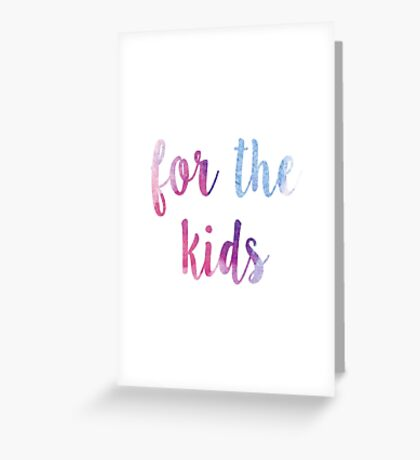 for the kids watercolor sticker Greeting Card
