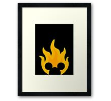 Pop Fire Framed Print