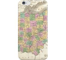 Vintage Map of Ohio (1827)  iPhone Case/Skin