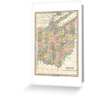 Vintage Map of Ohio (1827)  Greeting Card