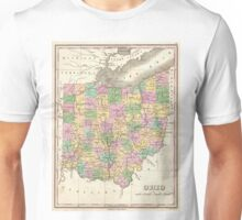 Vintage Map of Ohio (1827)  Unisex T-Shirt