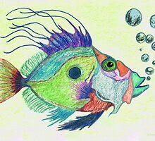 Funky Fish Art - By Sharon Cummings by Sharon Cummings