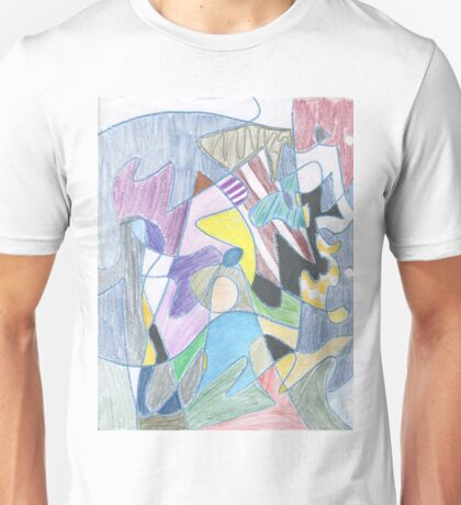 Abstract Color Doodle #30 Unisex T-Shirt