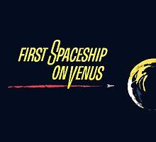 First Spaceship On Venus by ixrid