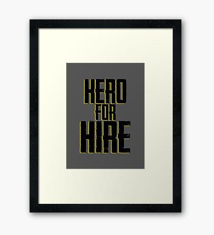 Hero For Hire - Luke Cage Framed Print