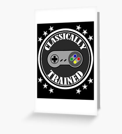 CLASSICALLY TRAINED RETRO 4 BUTTON VIDEO GAME CONTROLLER Greeting Card