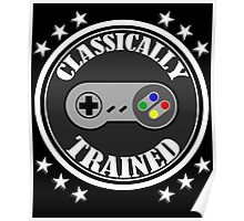 CLASSICALLY TRAINED RETRO 4 BUTTON VIDEO GAME CONTROLLER Poster