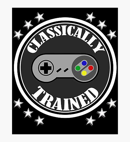 CLASSICALLY TRAINED RETRO 4 BUTTON VIDEO GAME CONTROLLER Photographic Print