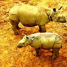Rhinos and Red Earth by Barnbk02