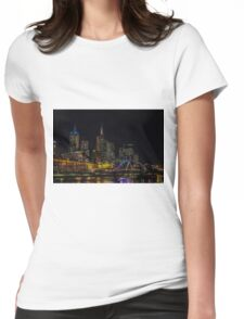 Melbourne at night Womens Fitted T-Shirt