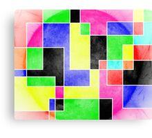 Colour Pieces Canvas Print