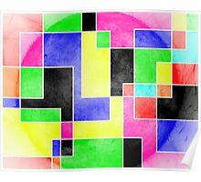 Colour Pieces Poster