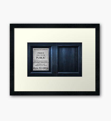The Box - Door Framed Print