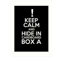 Keep Calm and Cardboard Box Art Print