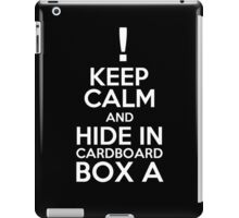 Keep Calm and Cardboard Box iPad Case/Skin