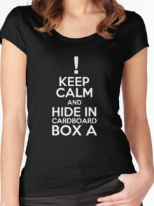 Keep Calm and Cardboard Box Women's Fitted Scoop T-Shirt