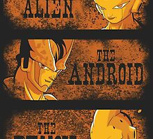 The Alien, the Android & the Demon by salvatrane