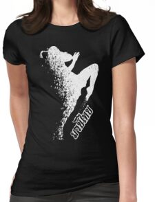 muay thai thousand kick fighter Womens Fitted T-Shirt