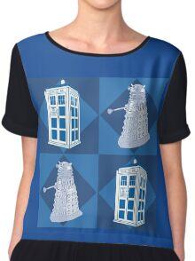 Doctor Who - Tardis Dalek Chiffon Top
