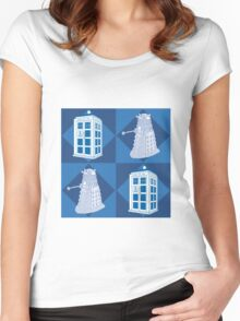 Doctor Who - Tardis Dalek Women's Fitted Scoop T-Shirt