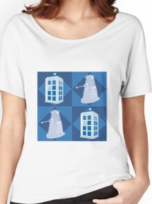 Doctor Who - Tardis Dalek Women's Relaxed Fit T-Shirt