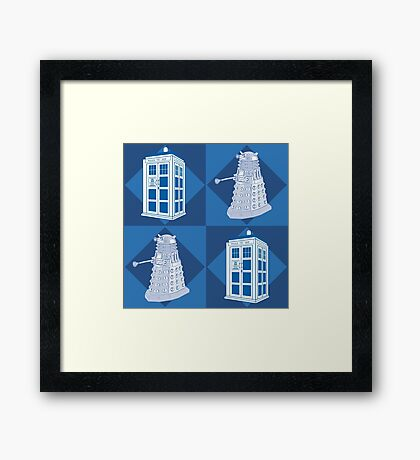 Doctor Who - Tardis Dalek Framed Print