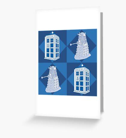 Doctor Who - Tardis Dalek Greeting Card