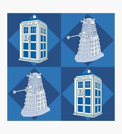 Doctor Who - Tardis Dalek Photographic Print