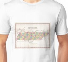 Vintage Map of Tennessee (1827) Unisex T-Shirt