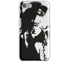 Abstract Woman in a Black Hat iPhone Case/Skin