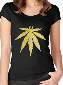 Golden Leaf Women's Fitted Scoop T-Shirt