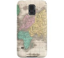 Vintage Map of The World (1827) Samsung Galaxy Case/Skin