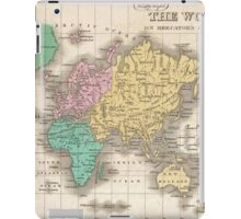 Vintage Map of The World (1827) iPad Case/Skin