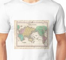 Vintage Map of The World (1827) Unisex T-Shirt